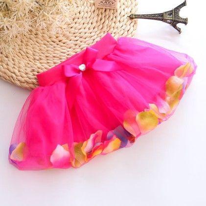 Rose Beautiful Petals Filled Skirt - Mauve Collection