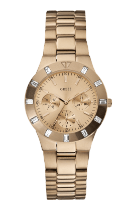 Guess Rose Gold Tone Glisten Watch - Guess Watches