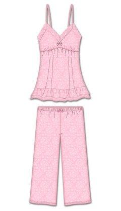 Sweet Dreams Capri Pj Set - Pink - Rene Rofe