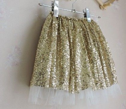 Gold Sequin Skirt - Mauve Collection