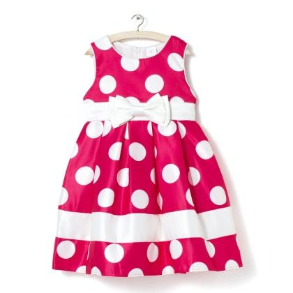 Pink With White Polka Dots Dress - Party Princess