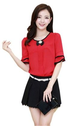 Classy Womens Top Red - Mauve Collection