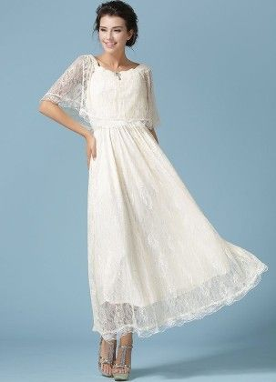 Lace Women's Spring Maxi Dress - Mauve Collection