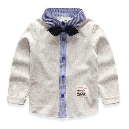 Cute Bow Shirt By Mauve White - Mauve Collection