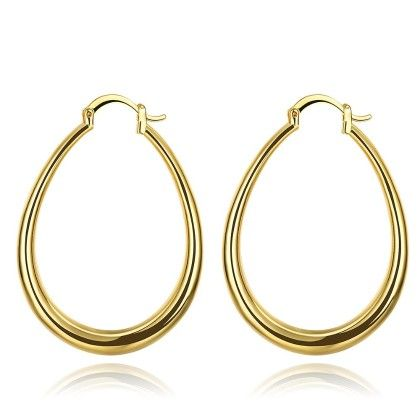 Gold Plated Endless Hoop Earrings With Snap Backs - Rubique Jewelry