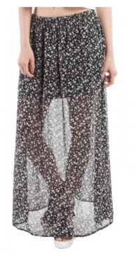 Printed Maxi Skirt - SBUYS