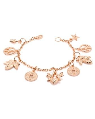 Voylla Bracelet For Women In Rose Gold Tone