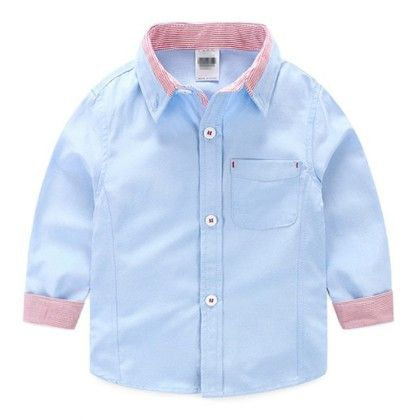 Beautiful Linen Cotton Shirt Blue - Mauve Collection