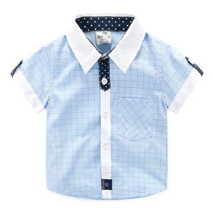 Cute Check Blue Shirt - Mauve Collection