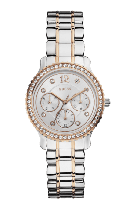 Guess Silver Tone-rose Gold Tone Enchanting Watch - Guess Watches