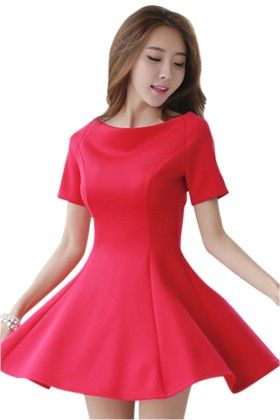 Short Red Dress - Mauve Collection