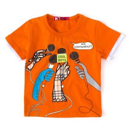 Cool Boys Orange Round Neck T-shirt - NODDY