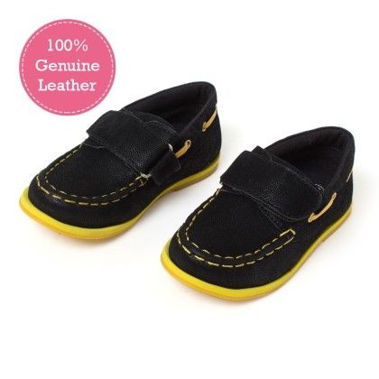 Black Leather Moccasins - Tuskey Shoes