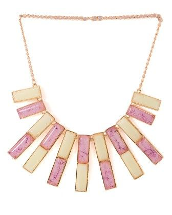 Voylla Gold Tone Necklace Decked With Pink Stones