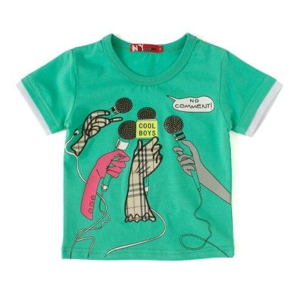 Cool Boys Green Round Neck T-shirt - NODDY