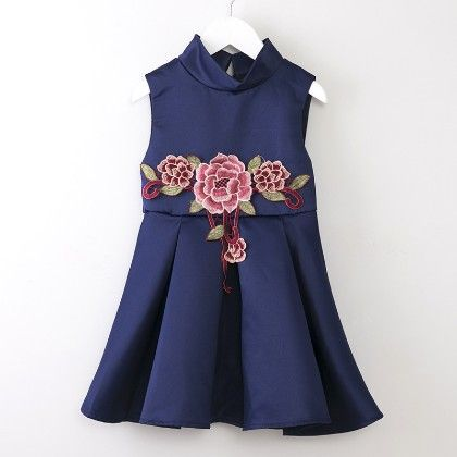 Printed Ball Pleated - Spring Style Dress - Mauve Collection