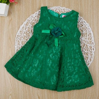 Green Classy Floral Lace Dress - Gianna