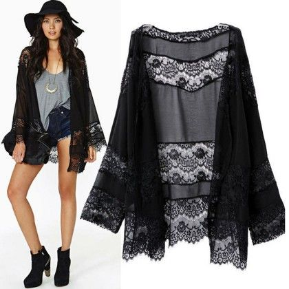 Long Sleeve Black Lace Blouse Women Vintage Top - STUPA FASHION
