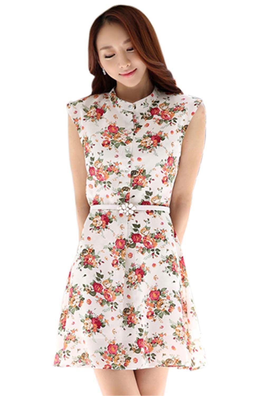 Floral Print Dress - Mauve Collection