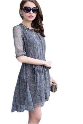 Short Grey Dress - Mauve Collection