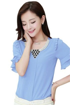 Cute & Classy Blue Women's Top - Mauve Collection