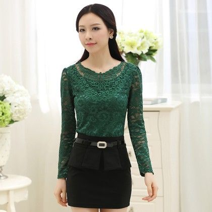 Green Lace Top - STUPA FASHION