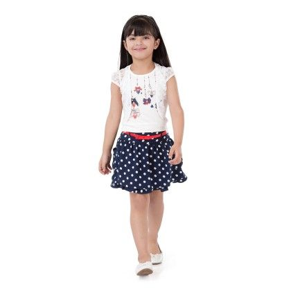 Navy Skirt And Top Set With Jacket - Tiny Baby