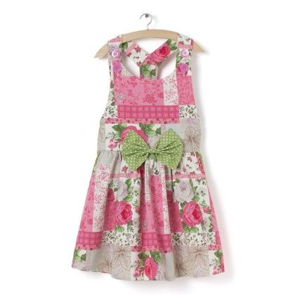 Sleeveless Dress With Green Big Bow - Little Fairy