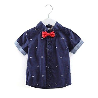 Cute Print Bow Shirt - Mauve Collection