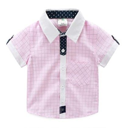 Cute Pink Checks Shirt - Mauve Collection
