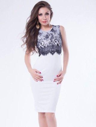Short White Dress - Mauve Collection