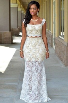 Lace Maxi Skirt - Enigma