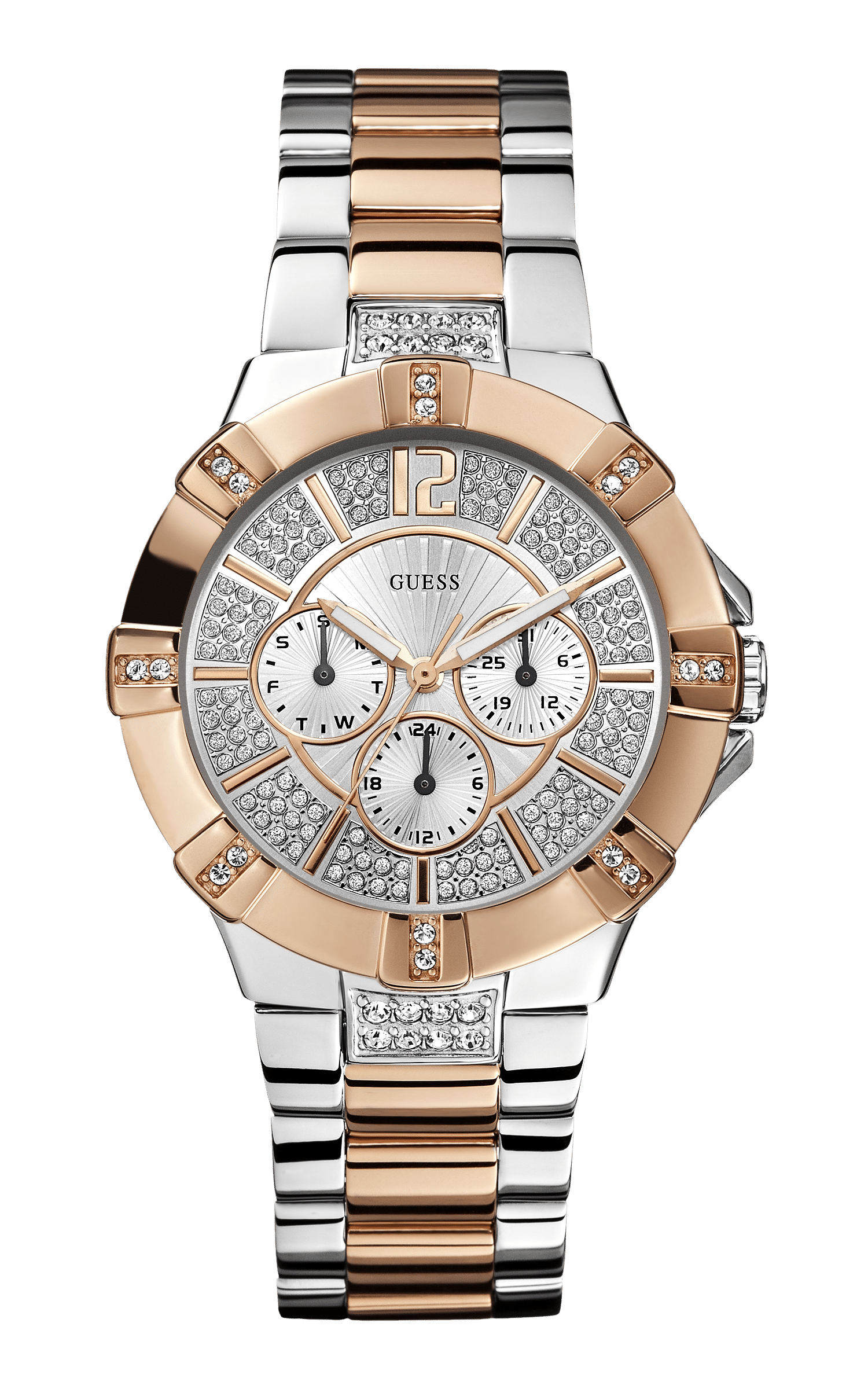 Guess Silver Tone-rose Gold Tone Vista Watch - Guess Watches