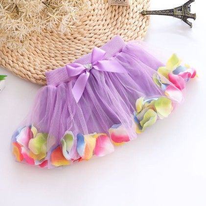 Purple Beautiful Petals Filled Skirt - Mauve Collection