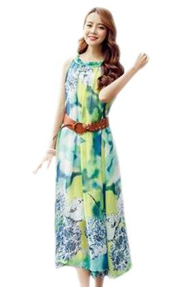 Tie Dry Green Dress - Mauve Collection