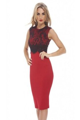 Red Classy Women's Dress - Mauve Collection