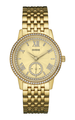Guess Gold Tone Gramercy Watch - Guess Watches