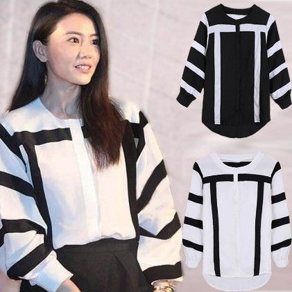 Black And White Striped Top - Drape In Vogue
