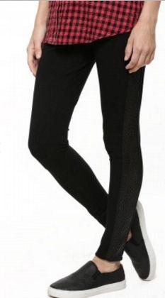 Textured Panel Leggings - SBUYS