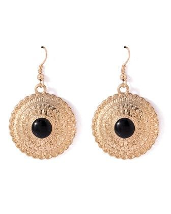 Voylla Round And Trendy Danglers With Enamel Work