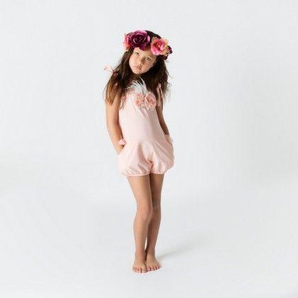 Peach Kira Playsuit - Designer Kidz
