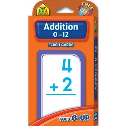Addition 0-12 Flash Cards - The School Zone