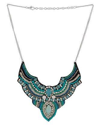 Voylla Exclusive Beaded Necklace In Green Hue.