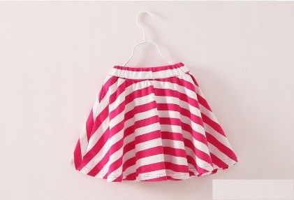 Pink Lovely Stripe Print Skirt - Mauve Collection