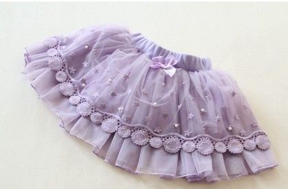 Purple Lace And Pearl Skirt - Mauve Collection