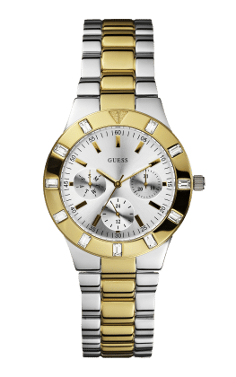 Guess Silver Tone-gold Tone Glisten Watch - Guess Watches