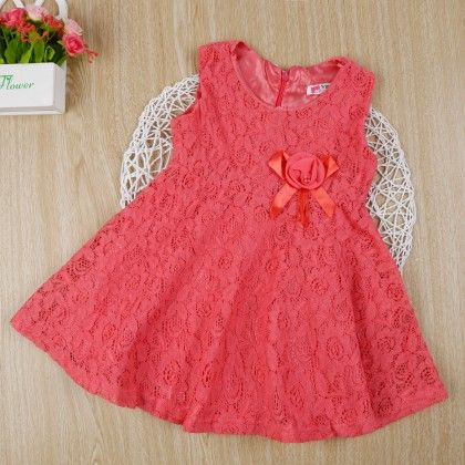 Pink Classy Floral Lace Dress - Gianna