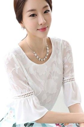 White Cute & Classy Top - Mauve Collection