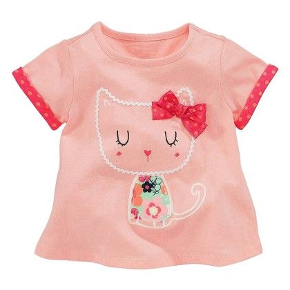Pink Kitty Print Half Sleeves T-shirt - Lil Mantra