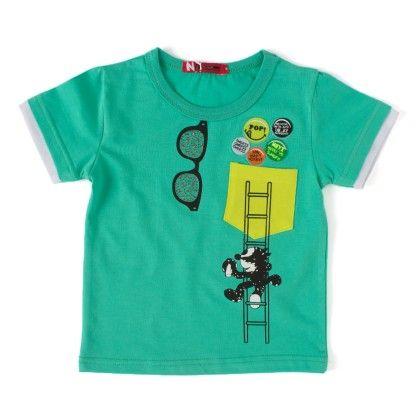 Make Me Smile Green Round Neck T-shirt - NODDY